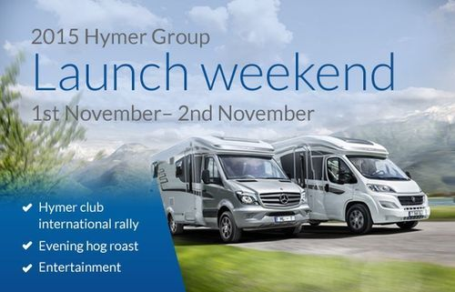 "2015 Hymer Group Launch Weekend 1st âeuro"" 2nd November âeuro"" Hymer Club International Rally (PRNewsFoto/Travelworld Motorhomes)"