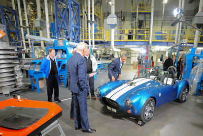 President Obama and Vice President Biden Toured the Techmer PM, LLC Production Facility and Gained a Look at a 3-D Printed Car Created Using Techmer ES Carbon Fiber Materials