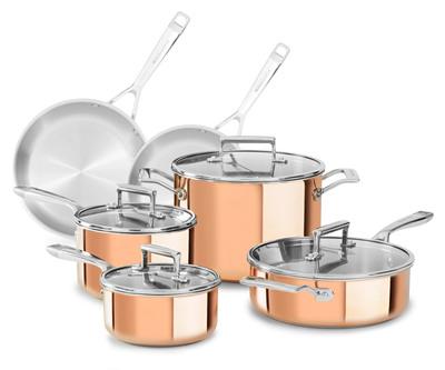 KitchenAid Tri-Ply Copper Clad Cookware.