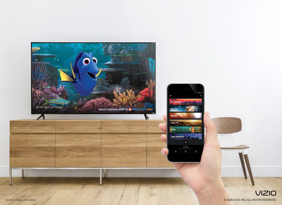 VIZIO SmartCast App for displays and audio products expands to include FandangoNOW premium on-demand video service that offers an extensive catalog of 4K UHD and High Dynamic Range (HDR) titles.