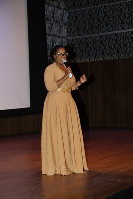 Oprah Winfrey addresses the National Museum of African American History and Culture After Party with Moët Hennessy