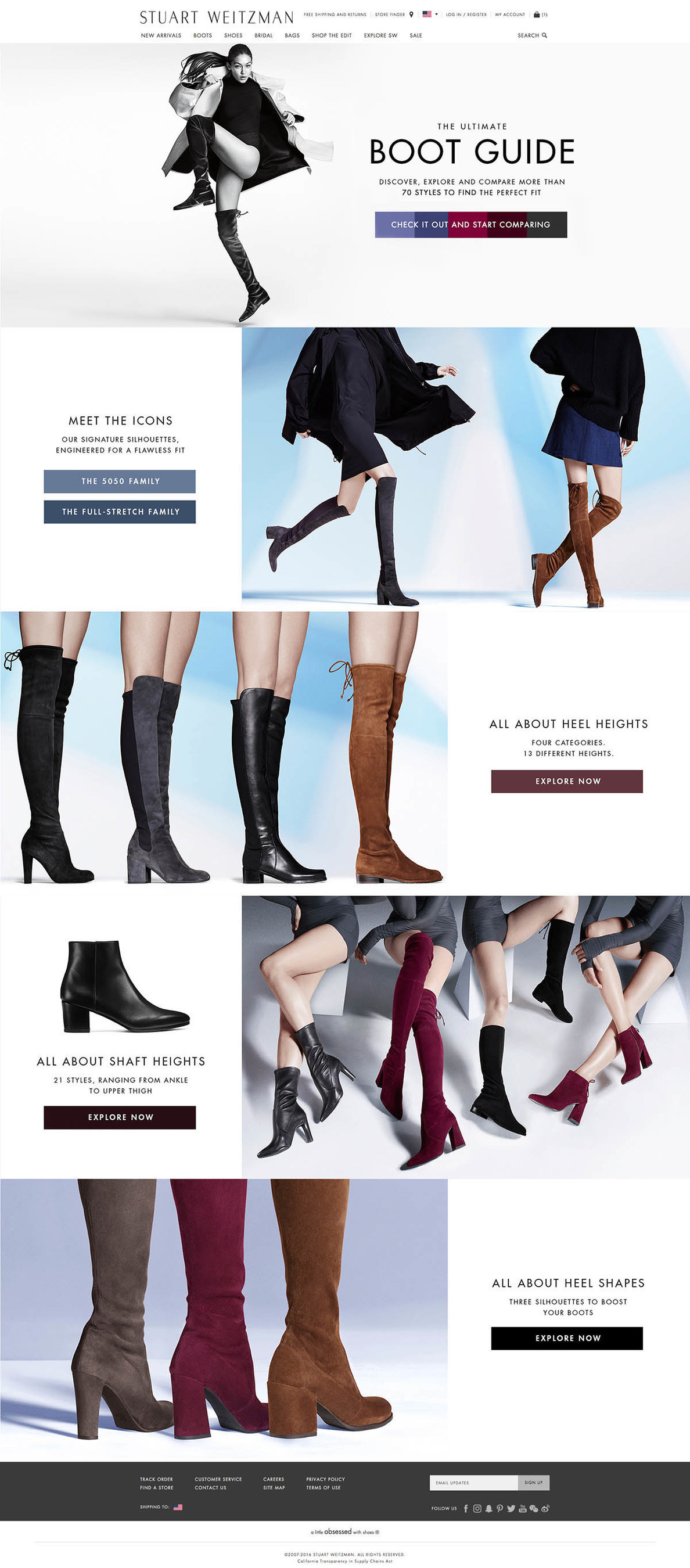 Stuart Weitzman Steps Up its Boot Game: Launches User-Friendly Shoppable Comparison Boot Guide for the Fall 2016 Collection on www.stuartweitzman.com