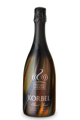 """Korbel California Champagne joins """"Premio Lo Nuestro a la Musica Latina"""" as the """"Official Champagne"""" of the 28th annual event on February 18 in Miami. As an official sponsor of the highly anticipated awards show, Korbel has created an exclusive bottle to allow fans a piece of the glamour and excitement of the show at home. This limited Korbel Sweet Rose commemorative bottle features the prestigious Premio Lo Nuestro logo  that pops against warm hues of brown, red, navy and yellow on the glossy bottle wrap.  It's available in select retail locations with a suggested retail price of $13.99."""
