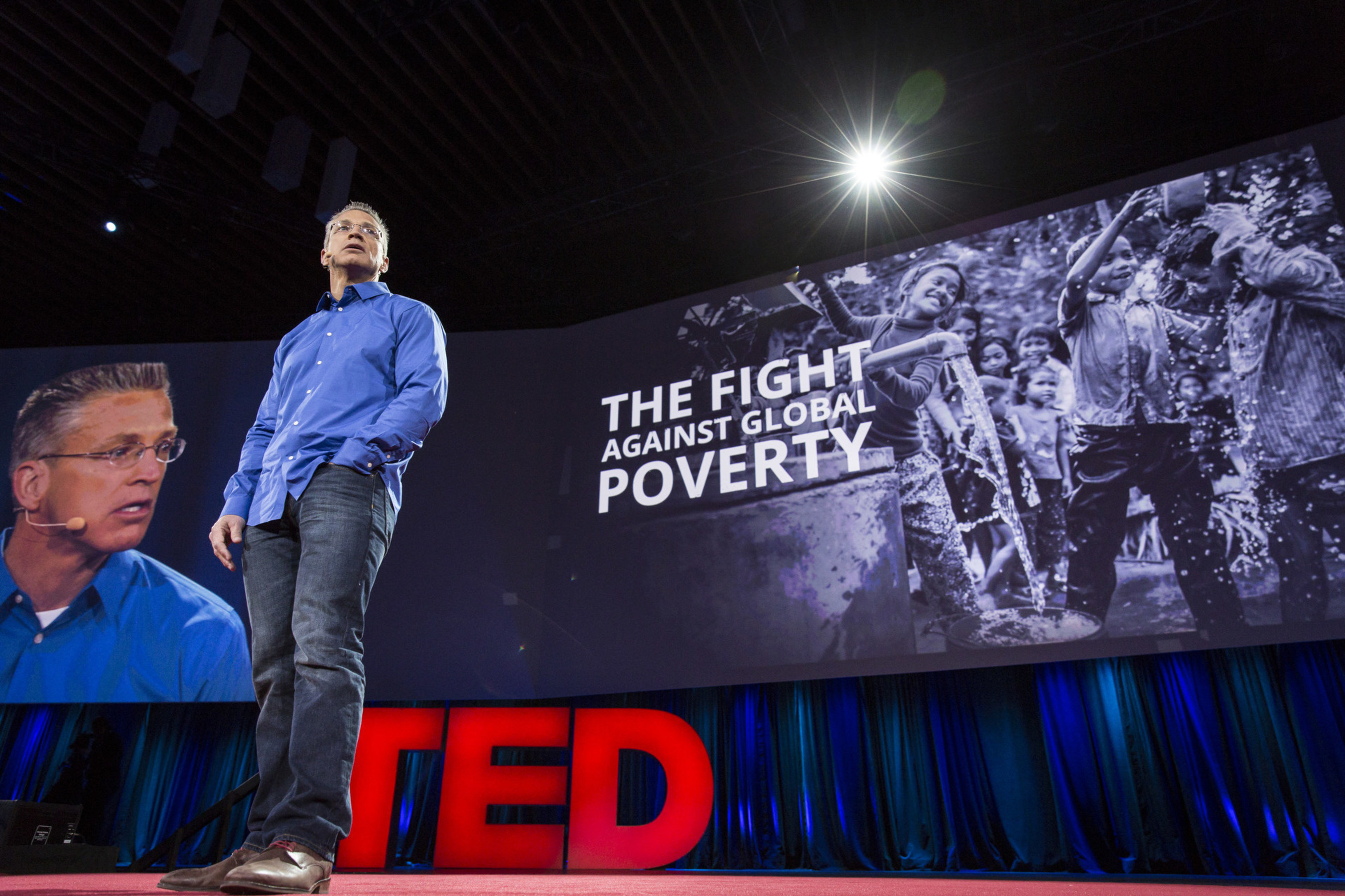 Gary Haugen delivers talk to TED2015. Photo: Bret Hartman/TED