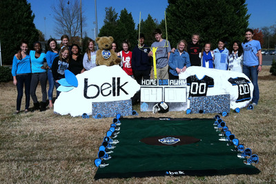 """Belk sponsored """"Rocking the Belk Bowl"""" contest, encouraging students to create educational and Belk Bowl-themed designs. Winning schools received $25,000 technology grants."""