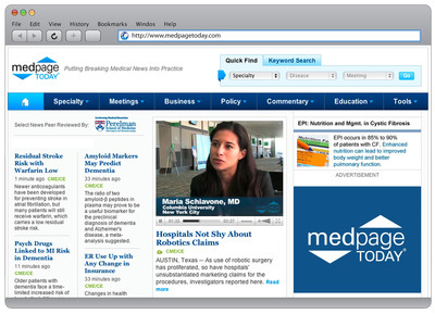 MedPage Today, the leading online provider of medical news for healthcare professionals, announced unprecedented growth and launched a redesigned site and mobile application.  (PRNewsFoto/Everyday Health, Inc.)