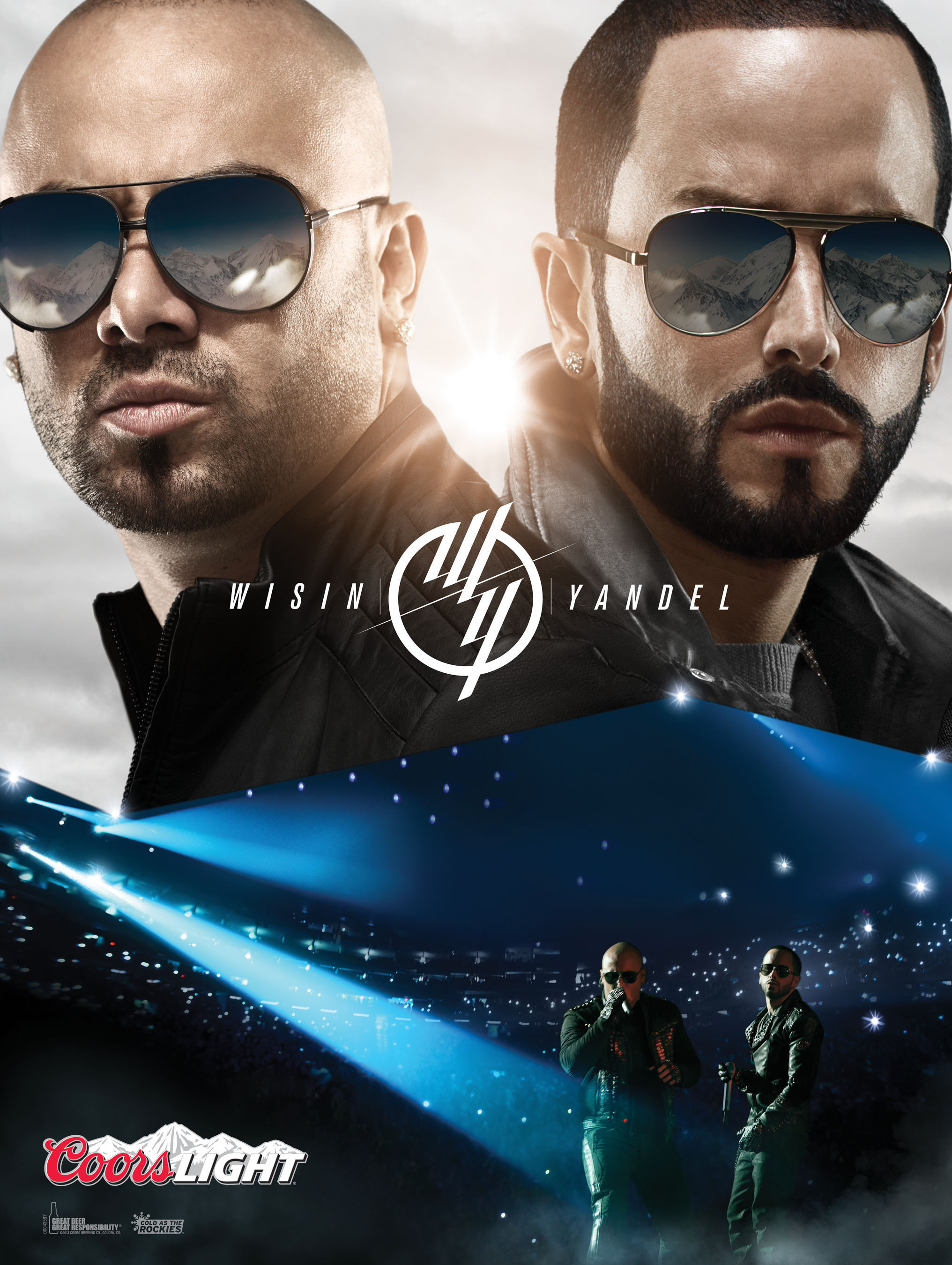 Coors Light Teams Up with Latin Powerhouse Duo Wisin & Yandel.  (PRNewsFoto/Coors Light)