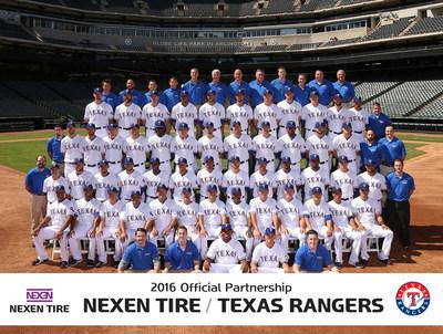 Nexen Tire continues its official partnership with Major League Baseball teams including the Texas Rangers for the 2016 season
