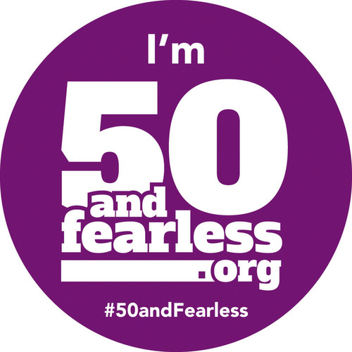 Copy and share this badge on social media using the #50andFearless hashtag to show you're ready to live more and fear less by getting a screening colonoscopy.  (PRNewsFoto/Scottsdale Healthcare)