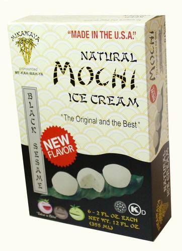 Mochi Ice Cream Black Sesame flavor.  (PRNewsFoto/Mikawaya)