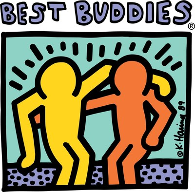 The Best Buddies logo, designed by renowned artist, Keith Haring.