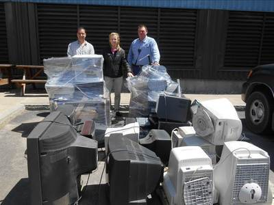 Electronic waste collected for recycling by Covanta Onondaga and the Southwood Fire Department