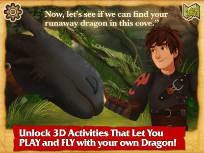 DreamWorks Press releases a groundbreaking, premium interactive story app based on the world and beloved characters from DreamWorks' Dragon franchise. Following the launch of their publishing division, DreamWorks Press: Dragons is the studio's first self-published story app, allowing readers to train their own dragons, explore unseen lands, and become the lead character within brand-new Dragon tales
