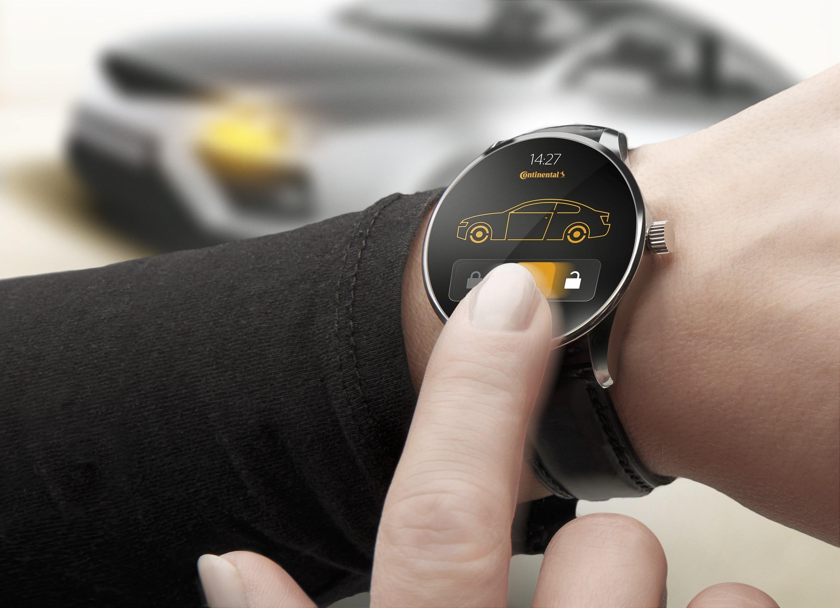 Wearable car key: Continental transfers smartwatches into intelligent keys