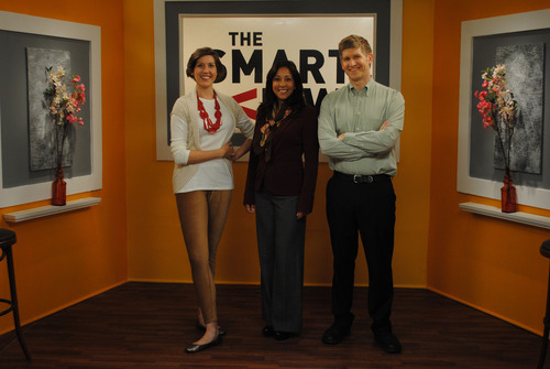 View from the set of Season 1 of MassMutual's The Smart View webisode series with host Sofia Ramos (center)  ...