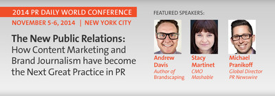 The 2014 PR Daily World Conference takes place on November 6 in New York City
