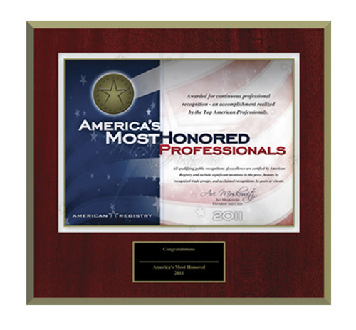 Announcing America's Most Honored Professionals: A New Award for the Nation's Top Ten Percent