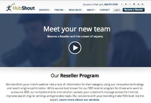 HubShout's New Website.  (PRNewsFoto/HubShout)