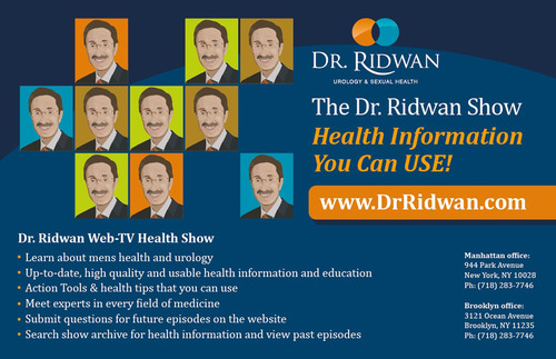 Men's Sexual Health Expert and Medical Talk Show Host Dr. Ridwan Shabsigh, MD Discusses Health News