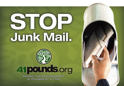 With a 41pounds.org gift certificate, you can stop the junk mail and unwanted catalogs for your friends and family -- and keep their holiday spirits bright.  (PRNewsFoto/41pounds.org)
