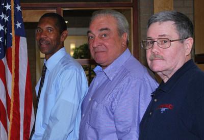 "NJHA's Veteran health navigators from left: Don Sanford, United States Air Force; Edward Sadowski, United State Army;  Francis ""Bud"" Funk, United States Marine Corp."