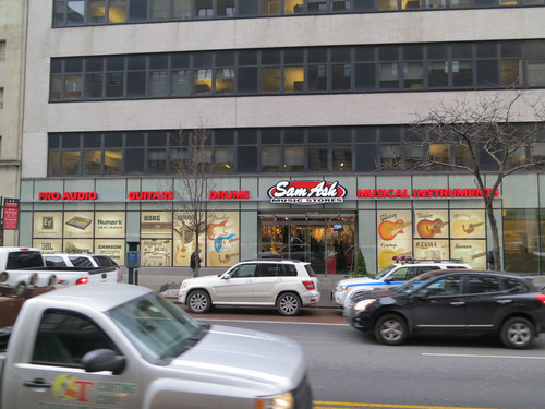 Sam Ash Music opens New York City superstore at 333 W. 34th St. (at 8th Ave.). A Grand Opening celebration is ...