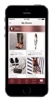 """Poshmark's new """"Shop my Shares"""" page (PRNewsFoto/Poshmark)"""