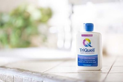 TriQuell enhances toilet paper's ability to get you gently and thoroughly clean (no water required).