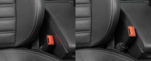 TRW is exhibiting several innovative solutions including its Active Buckle Lifter (ABL) seat belt system which can help occupants to fasten their seat belts by raising the buckle, as well as helping to remove some slack in certain dynamic and critical driving situations. This technology is due to start production on rear seats in 2013 with a major European vehicle manufacturer.  (PRNewsFoto/TRW Automotive Holdings Corp.)