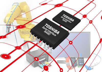 Toshiba has debuted a new family of NAND flash memory products for embedded applications: Serial Interface NAND