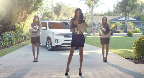 "Supermodel Adriana Lima and Kia Motors America turn curious onlookers into ""Futbol"" fanatics in series of ads celebrating the 2014 FIFA World Cup Brazil(TM) (PRNewsFoto/Kia Motors America)"