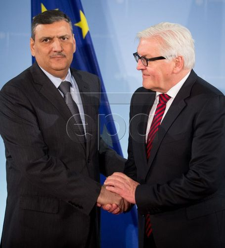 Riad Hijab meets German Minister of Foreign Affairs Frank-Walter Steinmeier (PRNewsFoto/Office of Dr Riad Hijab)