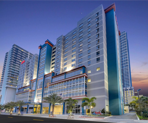 Hampton Inn & Suites Miami Brickell Hotel among 96 selected from over 4,700 Hilton hotels worldwide for the Google Pilot Program.  (PRNewsFoto/Hampton Inn & Suites Miami Brickell)