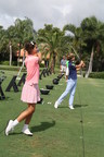Elle and Alec Nachmann practicing at Boca Grove.