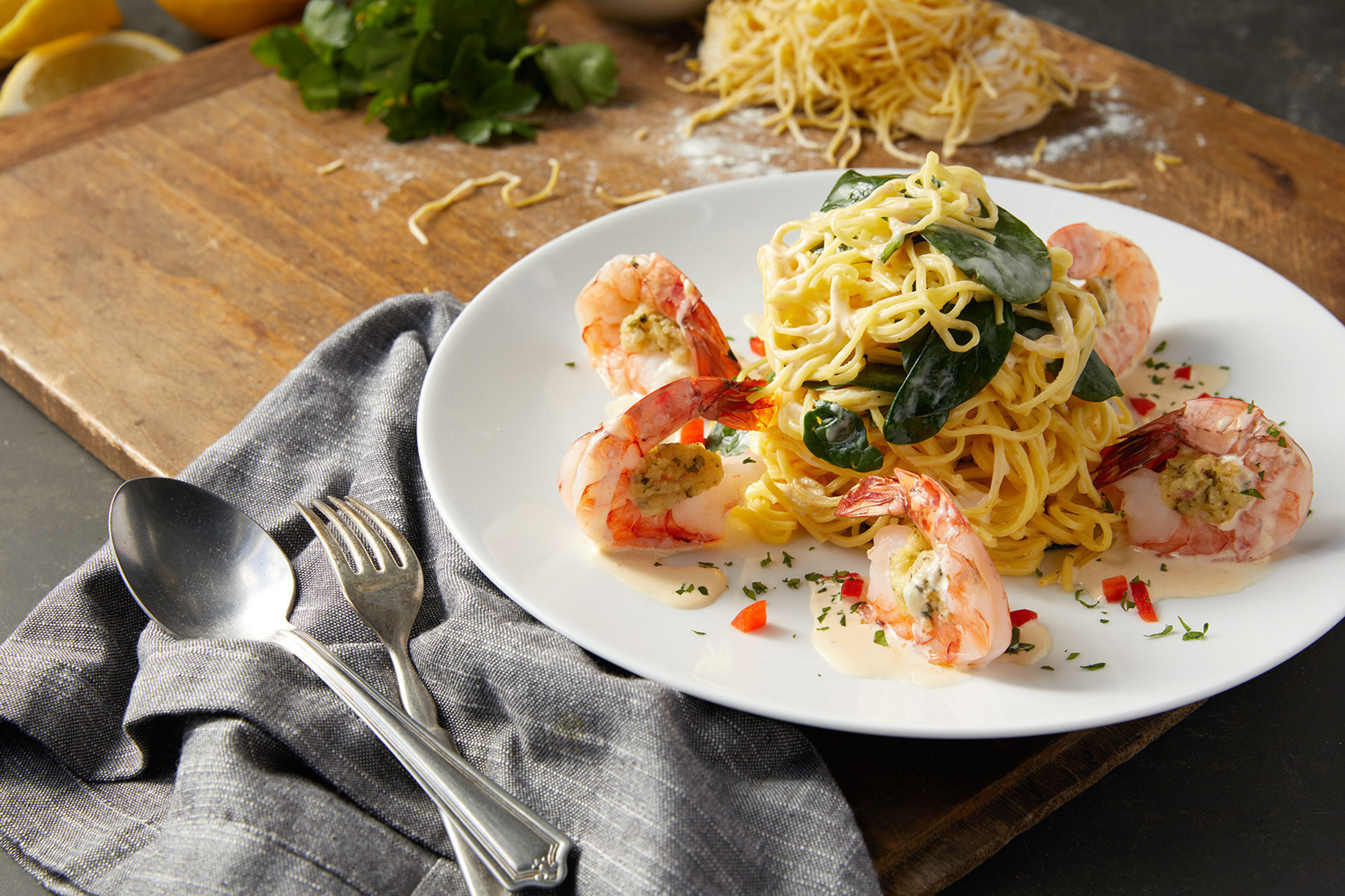 BRAVO! Cucina Italiana's Jumbo Stuffed Shrimp Scampi