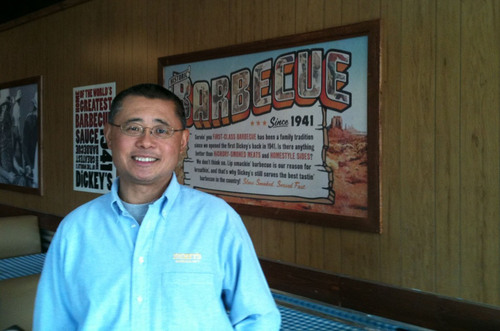 Elliot Fu is excited to open his first Dickey's location in San Bruno, CA.  (PRNewsFoto/Dickey's Barbecue)