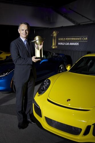 Porsche 911 GT3 named 2014 World Performance Car (PRNewsFoto/Porsche Cars North America)