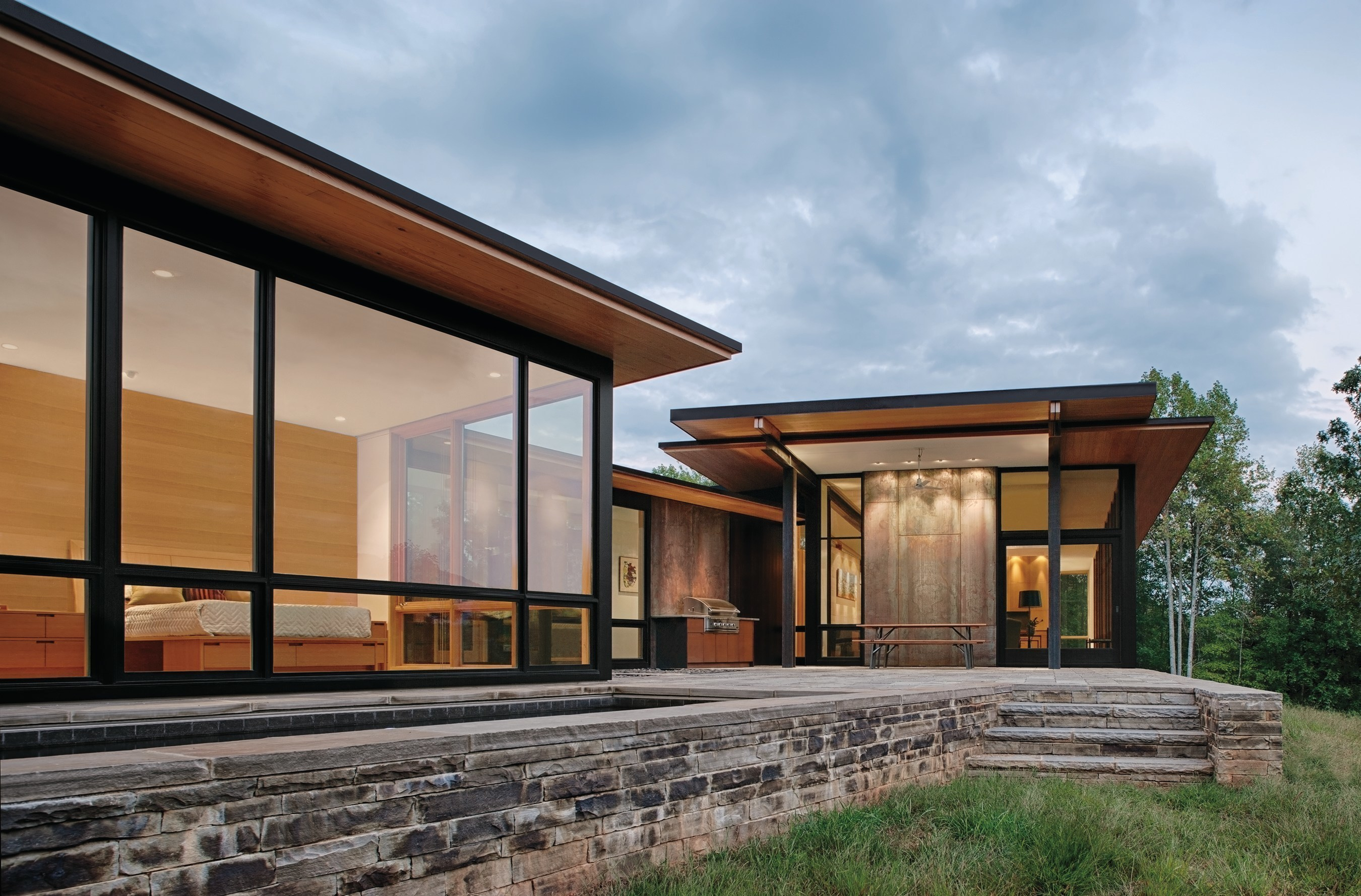 Marvin's Contemporary Studio uses products with features like clean lines, large expanses of glass and narrow profiles.