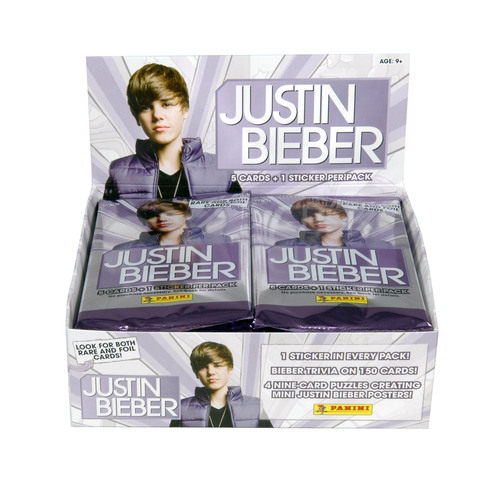 Panini America Fuels 'Bieber Fever' With Launch of Official Justin Bieber Trading Card and Sticker