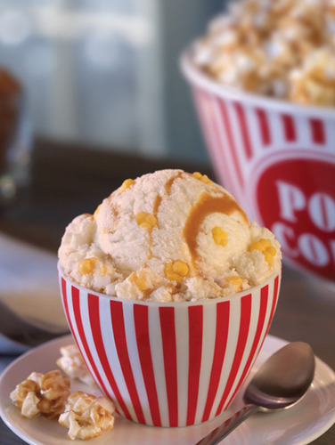 Baskin-Robbins January Flavor Of The Month: Movie Theater Popcorn.  (PRNewsFoto/Baskin-Robbins)