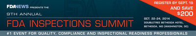 FDAnews -- 9th Annual Inspections Summit (PRNewsFoto/FDAnews)