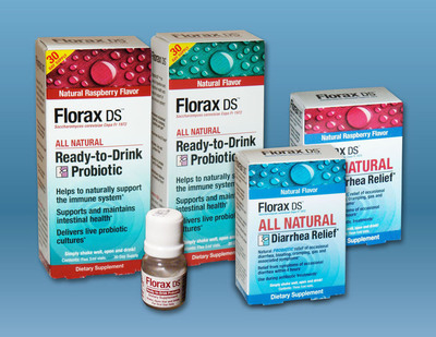 Florax DS Ready-to-Drink Probiotic offers Chemical-Free Relief of Gastrointestinal Symptoms in Four Hours.  (PRNewsFoto/Hebron U.S.A. Corp.)