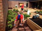 Lowe's Heroes employee volunteers create an outdoor learning space at Sope Creek Elementary School in Marietta, Ga.