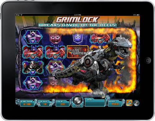 Bonus round in Transformers game on iPad. (PRNewsFoto/International Game Technology) (PRNewsFoto/INTERNATIONAL ...