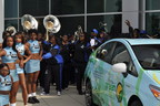 Toyota Green Initiative Prius Donation to Livingstone College at Hendrick Toyota of Concord, NC. (PRNewsFoto/Toyota)