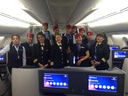 Aeromexico's female pilots and crew on International Women's Day, March 8, 2016