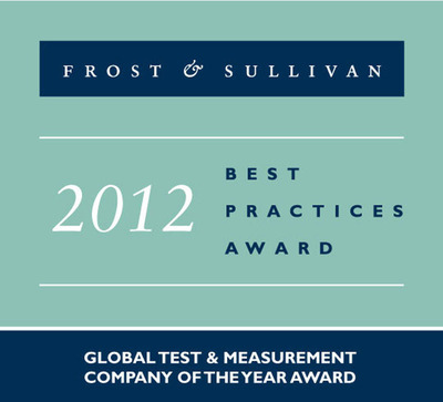Anritsu Company named top Global Test & Measurement Company by Frost & Sullivan.  (PRNewsFoto/Anritsu Company)