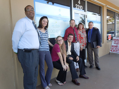 Into Action Treatment Announces Opening of Premier Rehab Center, 2310 SE 2nd Street Suite # 7,  Boynton Beach, FL, 33435, 855 933-6732. Pictured:  Roger Dunson, Nicole Metro, Meredith Chadeayne, Andrey Rossin, Michael Melichar, Carol Parks and Evan Jarschauer.  (PRNewsFoto/Into Action Treatment)