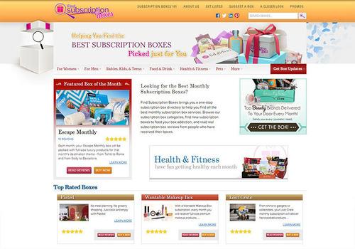 Find Subscription Boxes New Design. (PRNewsFoto/Find Subscription Boxes) (PRNewsFoto/FIND SUBSCRIPTION BOXES)