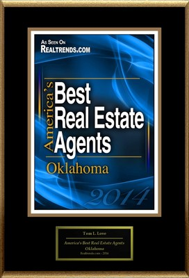 "Tom L. Love Selected For ""America's Best Real Estate Agents: Oklahoma"""